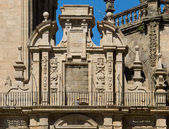 Royal gate of Compostela Cathedral — Stock Photo