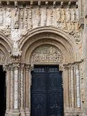 Romanesque Platerias facade in Compostela Cathedral — Stock Photo
