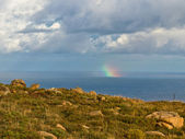 Rainbow on the Coast of the Dead — Stock Photo
