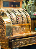 Golden old cash machine — Foto Stock