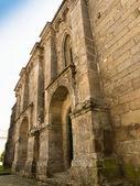 Gevel van middeleeuwse klooster van santa clara in pontevedra — Stockfoto