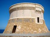 Martello tower in Fornells, Menorca — Stock Photo