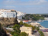 Quay and harbor in Mahon, Menorca — Stock Photo