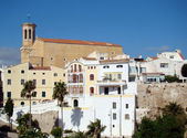 The church in the background of Mahon, Menorca — Stock Photo