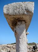 Detail of taula in Talati de Dalt, Menorca, Spain — Stock Photo