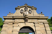 Detail of Leopold Gate, Vysehrad — Stock Photo