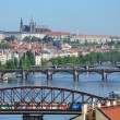 Foto de Stock  : View of Prague Castle across river Vltava
