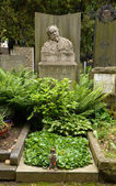 PRAGUE - JUN 5: Last resting place of Mikolas Ales — Stock Photo