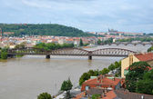 Railway bridge over the Vltava River — Stock Photo