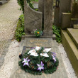 PRAGUE - JUL 02: Last resting place of Vlasta Burian — Stock Photo