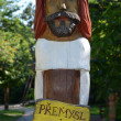 Stock Photo: PRAGUE - JUL 02: Artistic rendition of king Premysl Ploughman