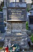 PRAGUE - JUL 02: Last resting place of Karel Hynek Macha — Stock Photo