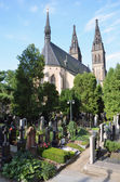 The Capitular Church of SS Peter & Paul and Vysehrad cemetery — Stock Photo