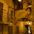 Stock Photo: Night street in the Old Town of Vieste