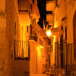 Night street in the Old Town of Vieste — Stock Photo
