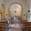 PESCHICI - SEP 11: The interior of the church of Madre di Sant'Elia — Stock Photo