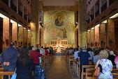 GARGANO - SEP 15: Interior of Santuario Santa Maria delle Grazie. September 15, 2013 — Stock Photo