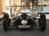 PRAGUE - FEB 13: Morgan 3-Wheeler. February 13, 2013 — Stock Photo