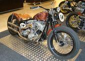 PRAGUE - FEB 13: Retro racing motorcycle. February 13, 2013 — Stock Photo