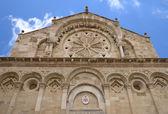 Troia Cathedral in Troia town, Apulia, Italy — Stock Photo