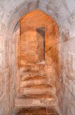 Interior of Castel del Monte, Apulia, Italy — Stock Photo