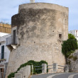 Medieval tower as part of a residential building — Stock Photo #46754073