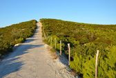 The narrow road across the top of the hill — Stock Photo