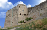 Medieval fortress on top of Vieste town — Stock Photo
