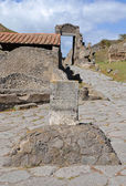 Boundary stone of the ancient city of Pompeii — Stockfoto