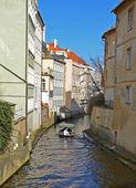PRAGUE - FEB 23: Water channel Certovka in Prague — Стоковое фото