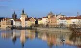 PRAGUE - FEB 23: Novotneho lavka in Prague — Stock Photo