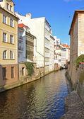 Water channel Certovka in Prague — Stock Photo