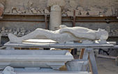 A plaster cast of the victim's body, Pompeii — Stock Photo