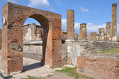 Arch of Augustus and Temple of Jupiter, Pompeii — Stock Photo