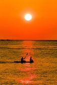 Kayaking At Dusk — Stock Photo