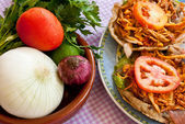 Mexican Food: Salbute — Stock Photo