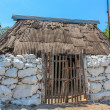 Typical ethnic minorities homes in the yucatan — Stock Photo