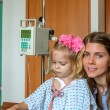 Hospitalized Girl and her Mom — Stock Photo