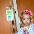 Stockfoto: Hospitalized Girl
