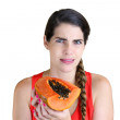 Stock Photo: Rotten Papaya