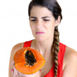 Hate Papaya — Stock Photo