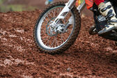 Motocross wheel — Stock Photo