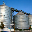 Stock Photo: Silos in the street