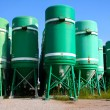 Silos in the street — Stock Photo