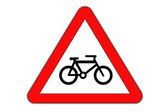 Bike symbol - danger. — Stock Photo