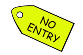 NO ENTRY- price target in yellow — Stock Photo