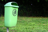 Rubbish container in the park. — Stock Photo