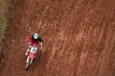 Man on motocross — Stock Photo