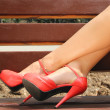 Ladies' legs in beautiful shoes. — Stock Photo #31058699
