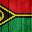 Royalty-Free Stock Photo: Wooden fence with the flag of Vanuatu painted on it